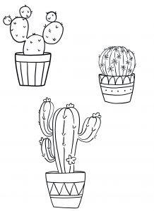 Kostenlose Kaktus Vorlage sticken