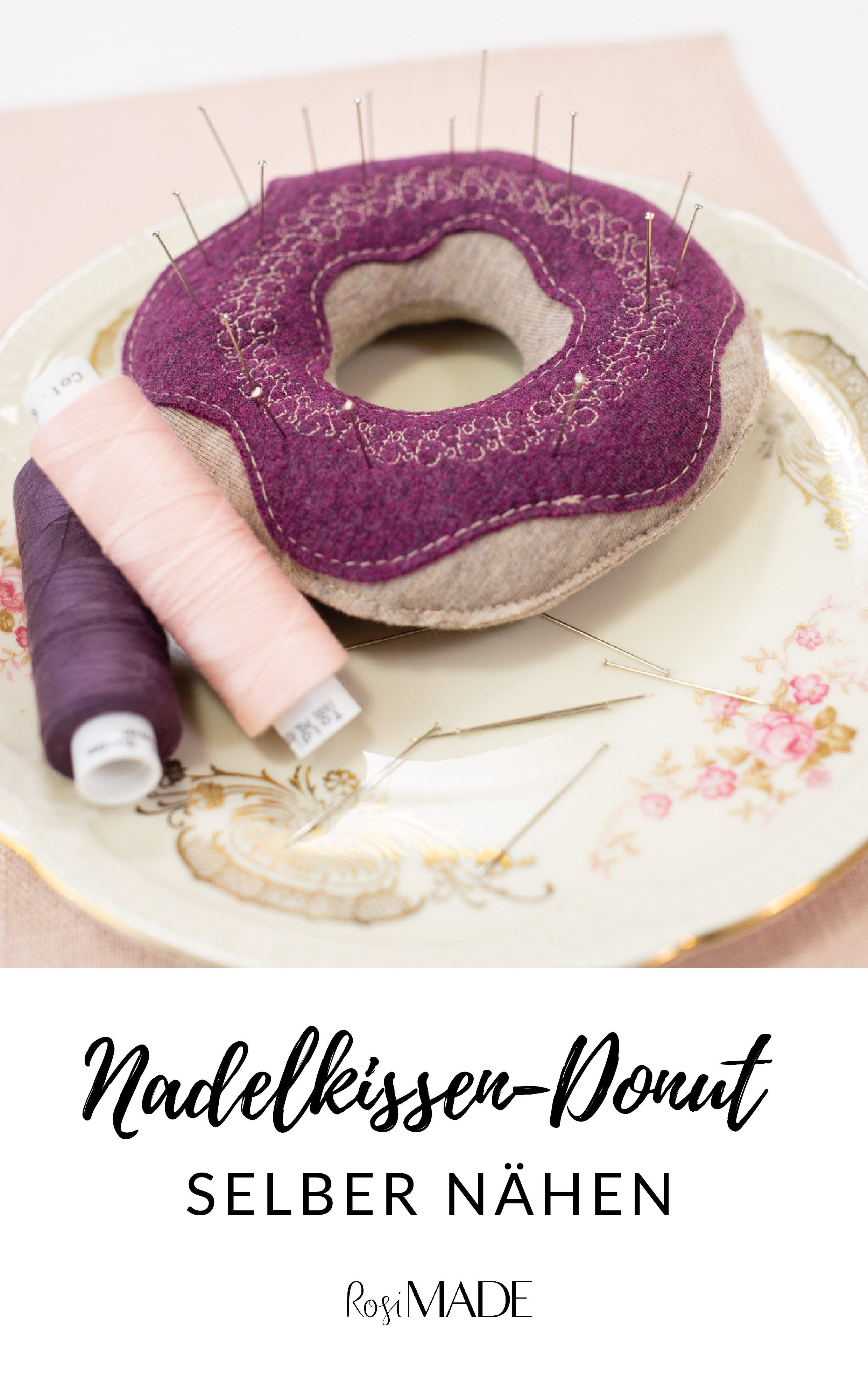 DIY Nadelkissen Donut naehen