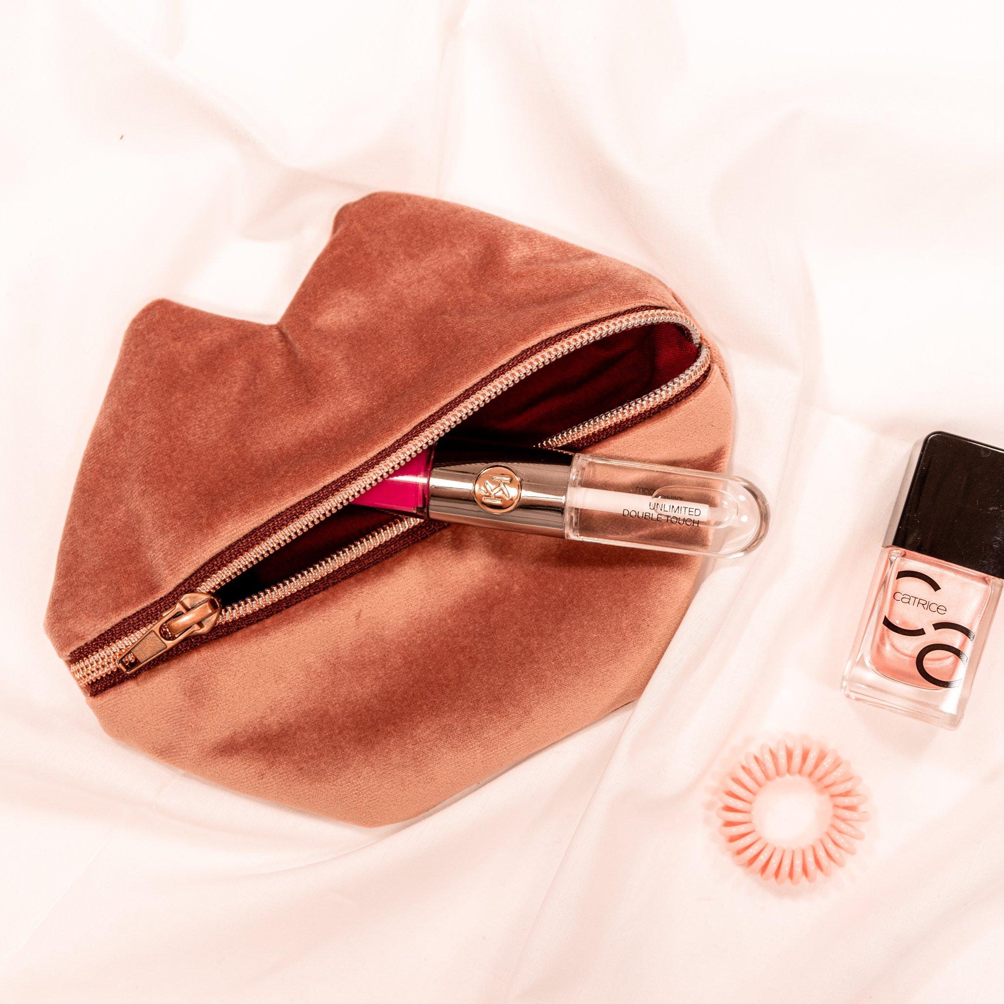 Kusstasche Kosmetiktasche kleine Tasche naehen