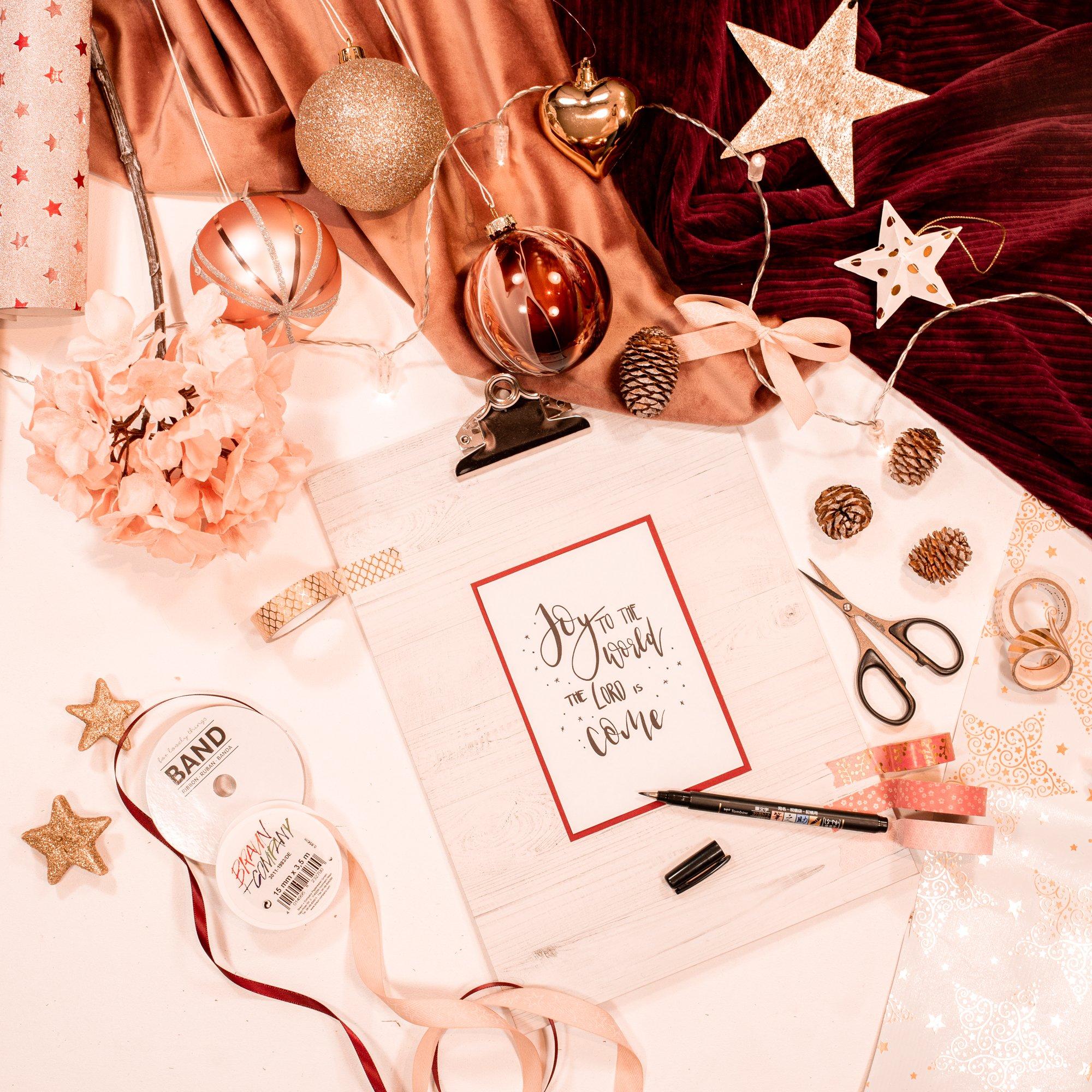 Weihnachtskarte drucken Printable kostenlos