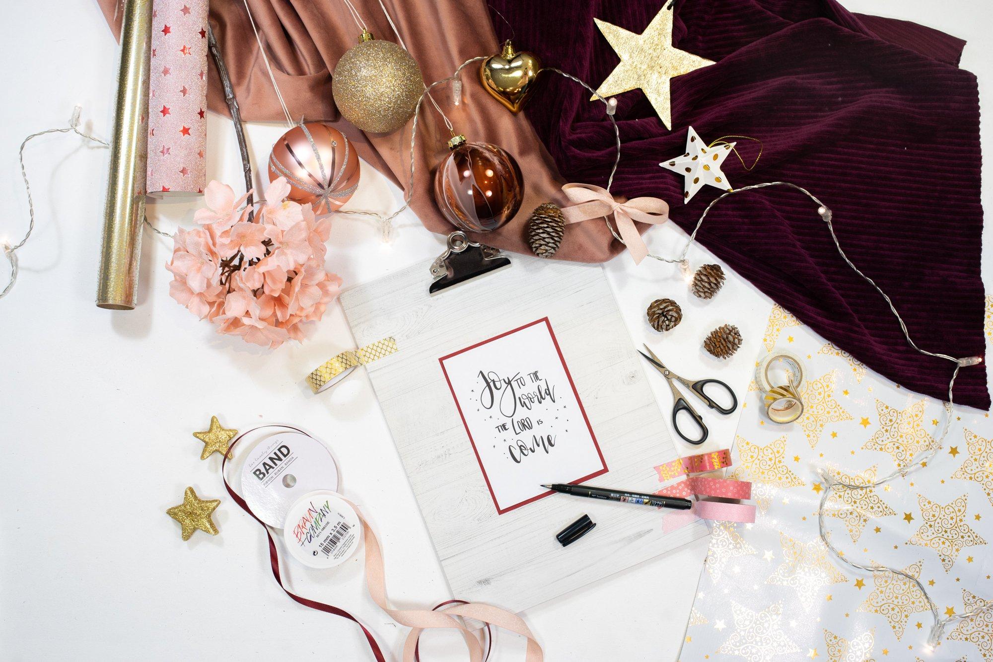 Weihnachtskarten selber machen kostenloses Printable