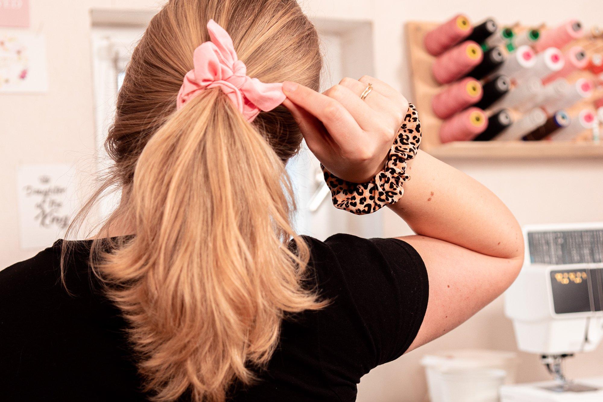 Scrunchie nähen Haargummi selber machen
