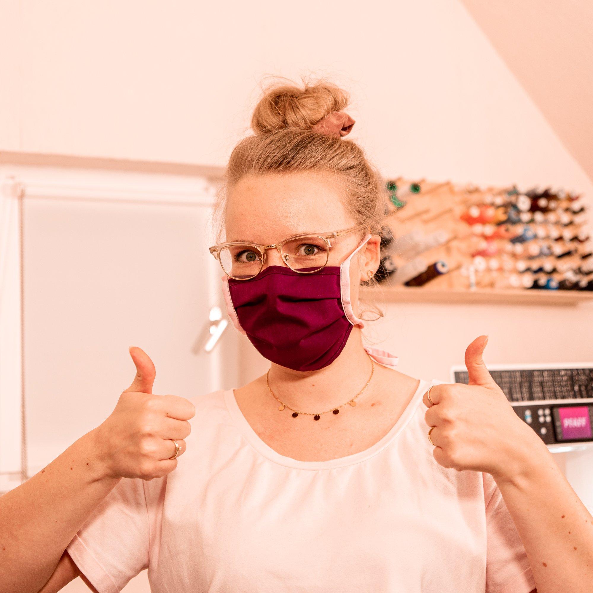 Behelfs Maske nähen schnell und einfach Tipps und Tricks