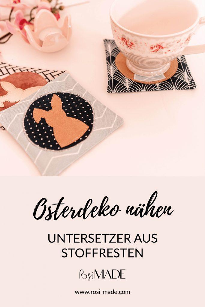 DIY Untersetzer naehen Ostern Geschenkidee Stoffreste